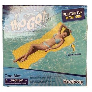 Bestway H2O Go Pool Lounge yellow Float N Roll